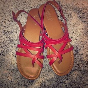 brick red size 8.5 sandals
